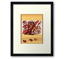 Tidal tangle Framed Print
