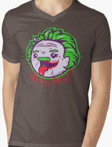Why So Genius ? Mens V-Neck T-Shirt
