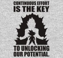 Unlock Your Potential - Goku Super Saiyan by oolongtees