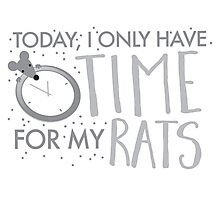 Yoday, I only have time for my RATS Photographic Print