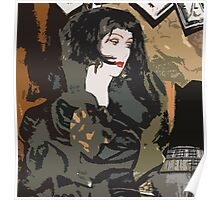 Pop arty tarot inspired collage - La Mort Poster
