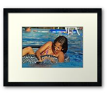 Dunk your Brother Framed Print