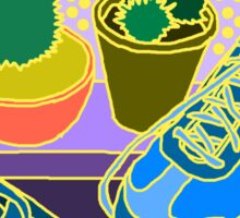 yellow cacti & shoes Sticker