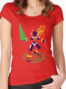 Mega Man Zero Splattery Shirt & iPhone Case Women's Fitted Scoop T-Shirt