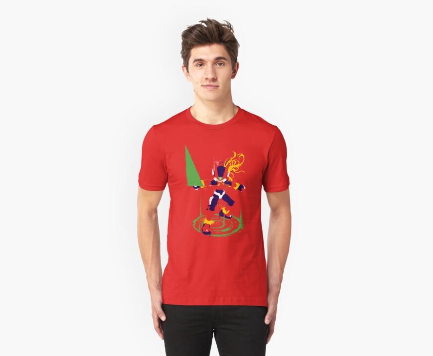 Mega Man Zero Splattery Shirt & iPhone Case by thedailyrobot