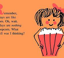 Birthday Card--Popcorn by diabolickalFUN