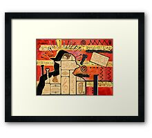 Music is My Sanctuary Framed Print