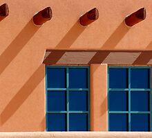 Windows Blue ~ New Mexico Style by Vicki Pelham