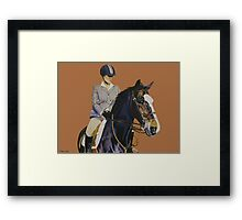 Concentration - Hunter Jumper Horse & Rider Framed Print