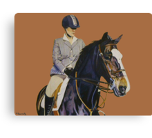 Concentration - Hunter Jumper Horse & Rider Canvas Print