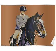 Concentration - Hunter Jumper Horse & Rider Poster
