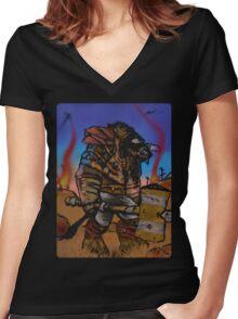 Tauren Of War Women's Fitted V-Neck T-Shirt