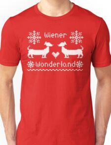 Wiener Wonderland in Festive Red - Dachshund Sausage Dog Unisex T-Shirt