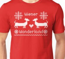 Wiener Wonderland in Festive Red Unisex T-Shirt