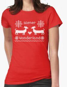 Wiener Wonderland in Festive Red Womens Fitted T-Shirt