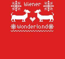 Wiener Wonderland in Festive Red Unisex T-Shirt