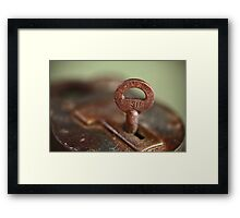 Lock & Key Framed Print