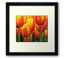 Red Tulip Painting Art Framed Print