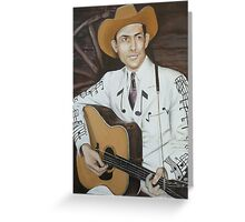 Hank Williams Greeting Card