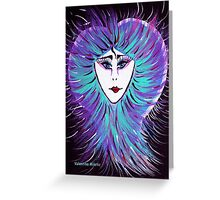 Snowflake - Woman Face Art by Valentina Miletic Greeting Card