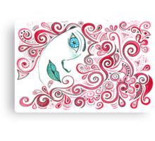 Curly Red Canvas Print