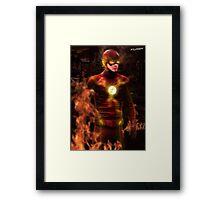 the Flash! Framed Print
