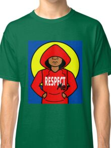 Cartoon African American Boy Wearing Red Hoodie Classic T-Shirt
