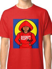 Cartoon African American Boy Wearing Red Hoodie Classic T-Shirt