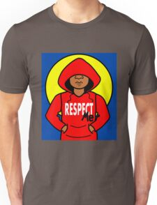 Cartoon African American Boy Wearing Red Hoodie Unisex T-Shirt