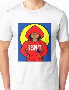 Cartoon African American Boy Wearing Red Hoodie Unisex T-Shirt