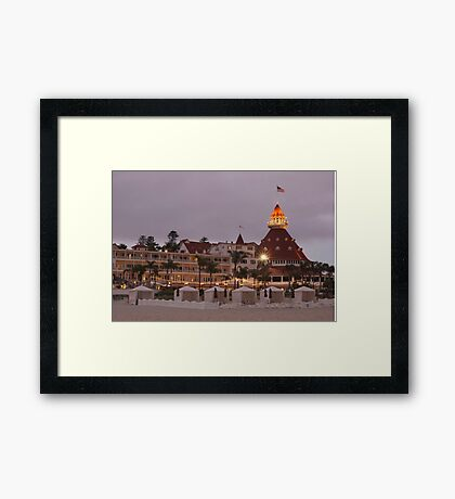 end of the beach day - del coronado hotel Framed Print