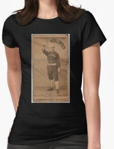 Benjamin K Edwards Collection Mark Baldwin Chicago White Stockings baseball card portrait 001 Womens Fitted T-Shirt