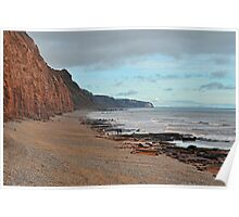 Low Tide At Sidmouth, Devon Poster
