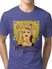 """Professor River Song's Hallucinogenic Lipstick"" Tri-blend T-Shirt"