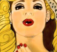 """Professor River Song's Hallucinogenic Lipstick"" Sticker"