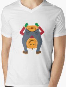 Sailor Jerry Inspired Aloha Pumpkin Mens V-Neck T-Shirt