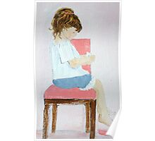 Seated Girl - Acrylic on Canvas Poster