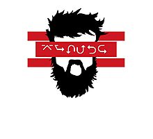 Bearded Wingdings Photographic Print