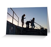 Silouette At Cottesloe Groyne Greeting Card