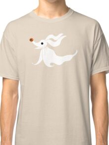 Zero - Nightmare Before Christmas, Skellington, Pumpkin King, White, Grin, Evil, Halloween, Christmas, Finkelstein, Dog, Ghost, Nose Classic T-Shirt