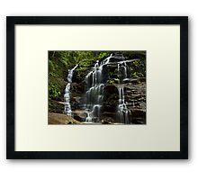 Sylvia Falls - Blue Mountains NP, NSW Framed Print