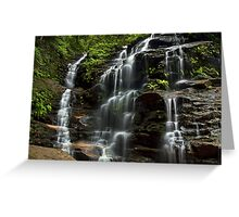 Sylvia Falls - Blue Mountains NP, NSW Greeting Card