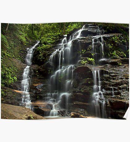 Sylvia Falls - Blue Mountains NP, NSW Poster