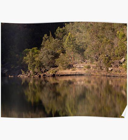 Reflections at the Basin - Bents Basin, NSW Poster