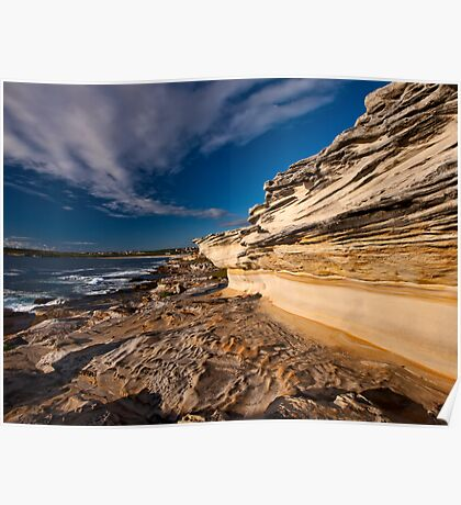 Sculptured by Nature - Maroubra Beach, NSW Poster