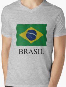 Brazilian flag Mens V-Neck T-Shirt