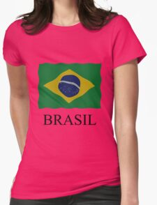 Brazilian flag Womens Fitted T-Shirt
