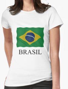 Brazilian flag Womens Fitted T-Shirt
