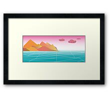 Virtual Terrain Framed Print