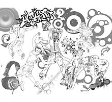 Hip Hop_ Black and White Photographic Print